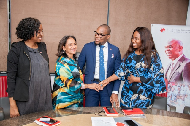 Picture of Press Conference on 3rd Annual TEF Entrepreneurship Forum 4: l-r: Chief Operating Officer, The Tony Elumelu Foundation(TEF), Mrs Owen Omogiafo; Chief Executive Officer, TEF, Mrs Parminder Vir; Company Secretary, TEF, Mr. Obong Idiong; and Programme Manager, Tony Elumelu Foundation Entrepreneurship Programme, Onajite Emerhor-Ogwu, at the Press Conference announcing the forthcoming 3rd Annual TEF Entrepreneurship Forum, the largest gathering of African Entrepreneurs, to be hosted by the Foundation on October 13-14 in Lagos………… Thursday