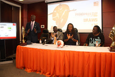 L-R Utham Ola Okunnu, Head Sports Competition, Lagos State Sports Commission, Jimmy Sogbesan, COO, Media Vision Ltd,  Oyinade Adegite, Head of Communications & External Affairs, GTBank and Mrs Babs Akinyeye, Director Co-Curricular Services, Lagos State Min. of Education